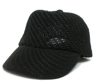 BARELY WORN!! Black Crocheted Ball Cap.